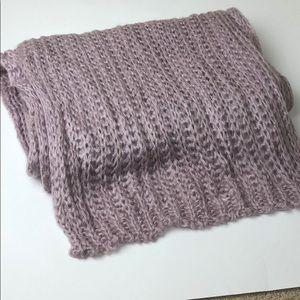 Bujibaja lavender mohair NWOT knit scarf wrap